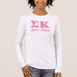 Sigma Kappa Light Pink Letters Long Sleeve T-Shirt