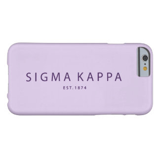 Sigma Kappa Modern Type Barely There iPhone 6 Case