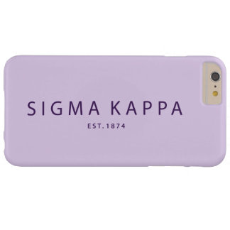 Sigma Kappa Modern Type Barely There iPhone 6 Plus Case