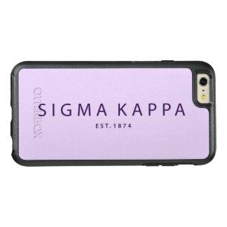 Sigma Kappa Modern Type OtterBox iPhone 6/6s Plus Case