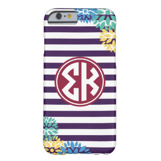 Sigma Kappa | Monogram Stripe Pattern Barely There iPhone 6 Case