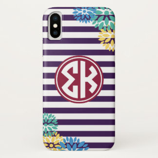 Sigma Kappa | Monogram Stripe Pattern Case-Mate iPhone Case