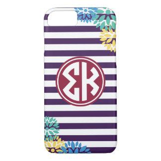 Sigma Kappa | Monogram Stripe Pattern iPhone 8/7 Case