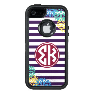 Sigma Kappa | Monogram Stripe Pattern OtterBox Defender iPhone Case