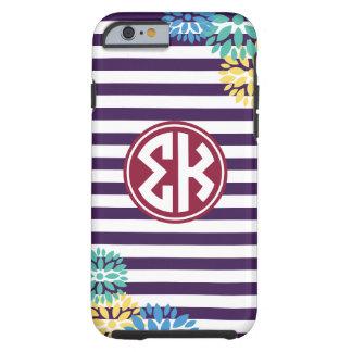 Sigma Kappa | Monogram Stripe Pattern Tough iPhone 6 Case