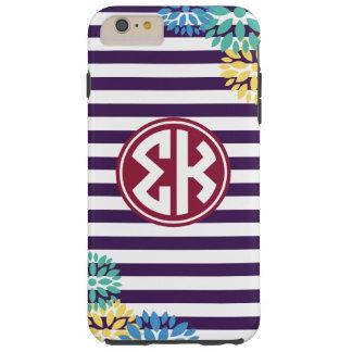 Sigma Kappa | Monogram Stripe Pattern Tough iPhone 6 Plus Case