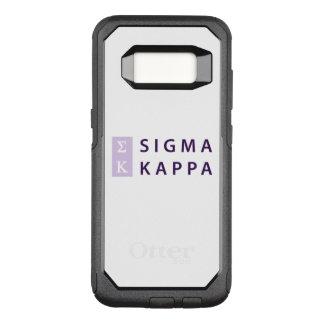 Sigma Kappa Stacked OtterBox Commuter Samsung Galaxy S8 Case