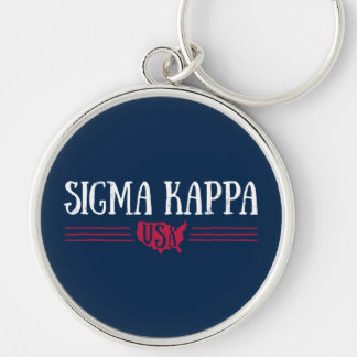 Sigma Kappa USA Keychain