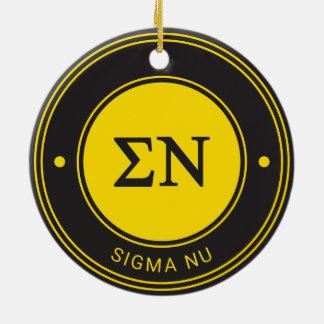 Sigma Nu | Badge Ceramic Ornament