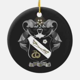 Sigma Nu Crest Round Ceramic Ornament
