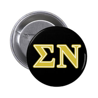 Sigma Nu Gold Letters 2 Inch Round Button