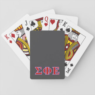Sigma Phi Epsilon Purple and Red Letters Playing Cards