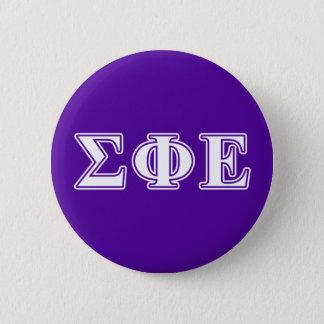 Sigma Phi Epsilon White and Purple Letters 2 Inch Round Button