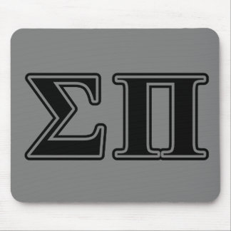 Sigma Pi Black Letters Mouse Pad