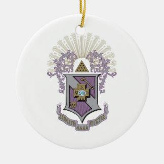 Sigma Pi Good Crest 4-C Ceramic Ornament