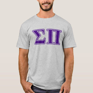 Sigma Pi Purple Letters T-Shirt