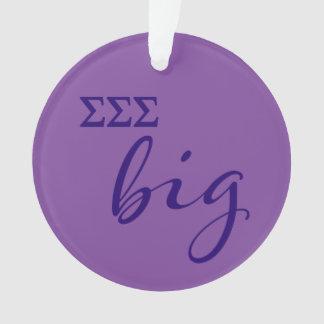 Sigma Sigma Sigma Big Script Ornament