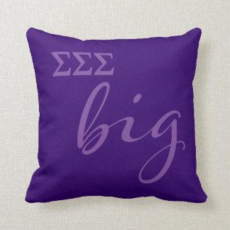 Sigma Sigma Sigma Big Script Throw Pillow