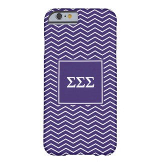 Sigma Sigma Sigma | Chevron Pattern Barely There iPhone 6 Case