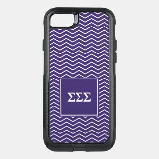 Sigma Sigma Sigma | Chevron Pattern OtterBox Commuter iPhone 8/7 Case
