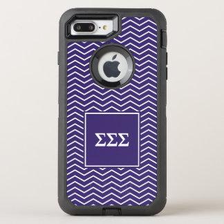 Sigma Sigma Sigma | Chevron Pattern OtterBox Defender iPhone 8 Plus/7 Plus Case