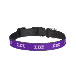 Sigma Sigma Sigma Lavender Letters Pet Collar
