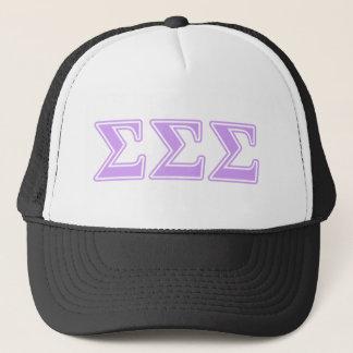 Sigma Sigma Sigma Lavender Letters Trucker Hat