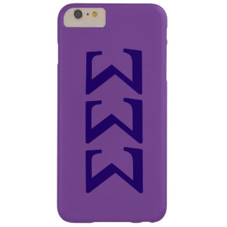 Sigma Sigma Sigma Lil Big Logo Barely There iPhone 6 Plus Case
