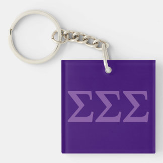 Sigma Sigma Sigma Lil Big Logo Keychain