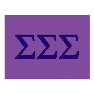 Sigma Sigma Sigma Lil Big Logo Postcard