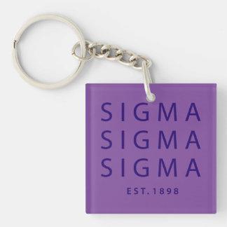Sigma Sigma Sigma Modern Type Keychain