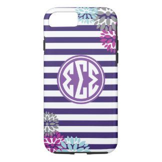 Sigma Sigma Sigma | Monogram Stripe Pattern Case-Mate iPhone Case
