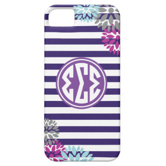 Sigma Sigma Sigma | Monogram Stripe Pattern iPhone 5 Cover