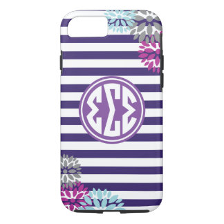 Sigma Sigma Sigma | Monogram Stripe Pattern iPhone 8/7 Case