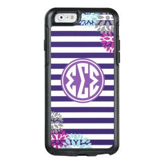 Sigma Sigma Sigma | Monogram Stripe Pattern OtterBox iPhone 6/6s Case