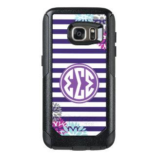 Sigma Sigma Sigma | Monogram Stripe Pattern OtterBox Samsung Galaxy S7 Case