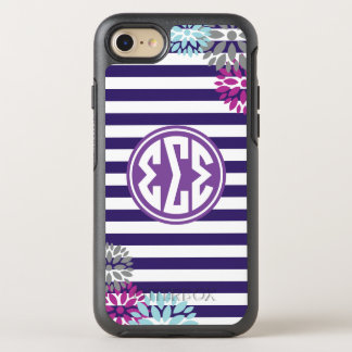 Sigma Sigma Sigma | Monogram Stripe Pattern OtterBox Symmetry iPhone 8/7 Case