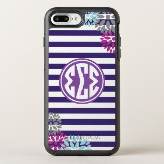 Sigma Sigma Sigma | Monogram Stripe Pattern OtterBox Symmetry iPhone 8 Plus/7 Plus Case