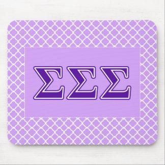 Sigma Sigma Sigma Purple Letters Mouse Pad