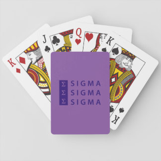Sigma Sigma Sigma Stacked Playing Cards