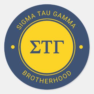 Sigma Tau Gamma | Badge Classic Round Sticker