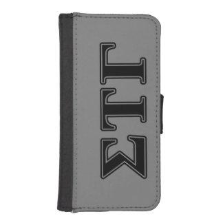 Sigma Tau Gamma Black Letters iPhone SE/5/5s Wallet Case