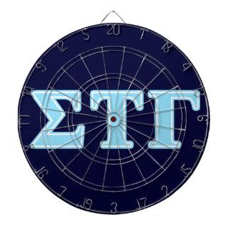 Sigma Tau Gamma Blue Letters Dartboard