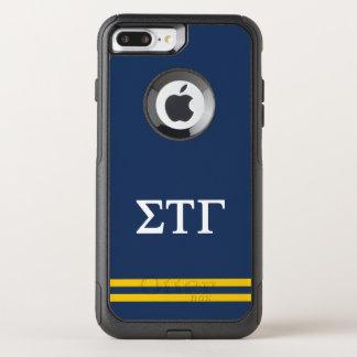 Sigma Tau Gamma | Sport Stripe OtterBox Commuter iPhone 8 Plus/7 Plus Case