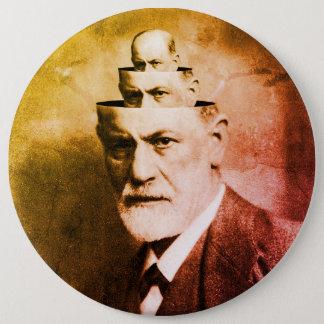 Sigmund Freud 6 Inch Round Button