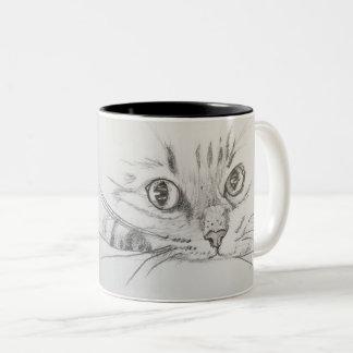 Sigmund Freud Quote Mug with Cat Sketch