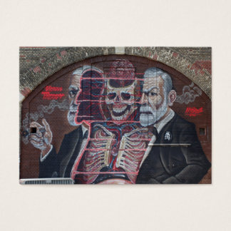 Sigmund Freud Street Art Business Card