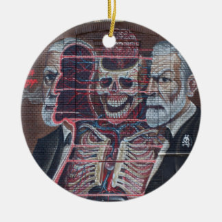 Sigmund Freud Street Art Ceramic Ornament