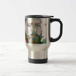 SIGMUND FREUD - watercolor portrait.1 Travel Mug
