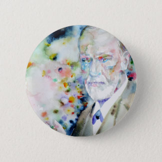 SIGMUND FREUD - watercolor portrait.2 2 Inch Round Button